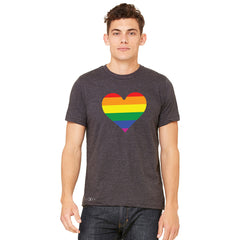 Gay Pride Rainbow Love Heart Strong Men's T-shirt Pride Tee - Zexpa Apparel
