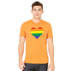 Gay Pride Rainbow Love Heart Strong Men's T-shirt Pride Tee - Zexpa Apparel - 7