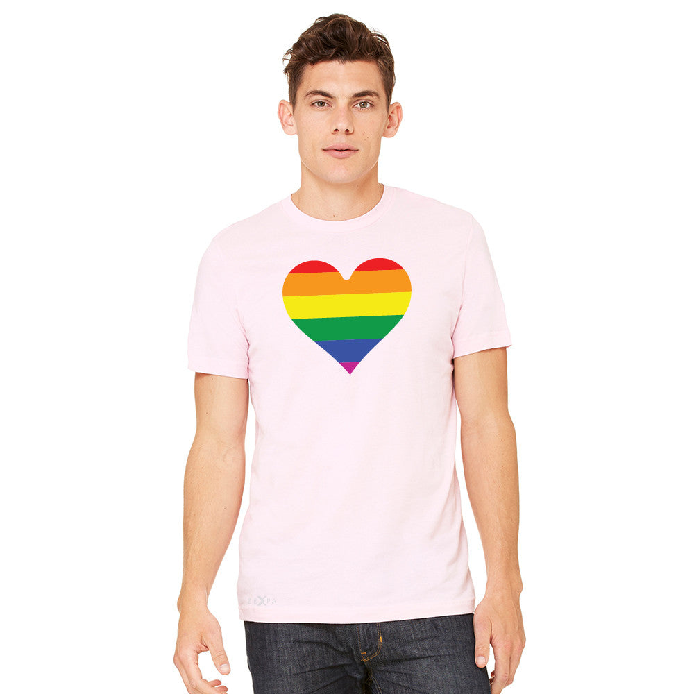 Gay Pride Rainbow Love Heart Strong Men's T-shirt Pride Tee - Zexpa Apparel - 8