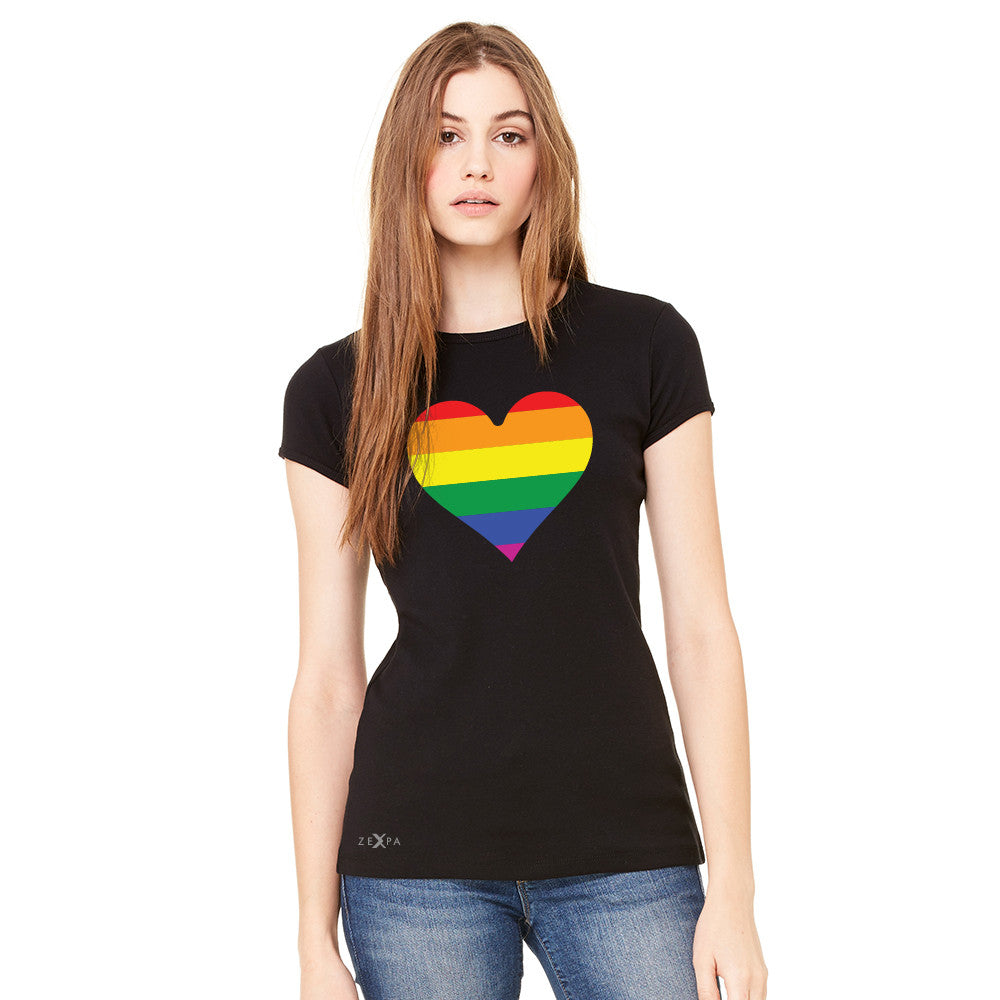 Gay Pride Rainbow Love Heart Strong Women's T-shirt Pride Tee - Zexpa Apparel
