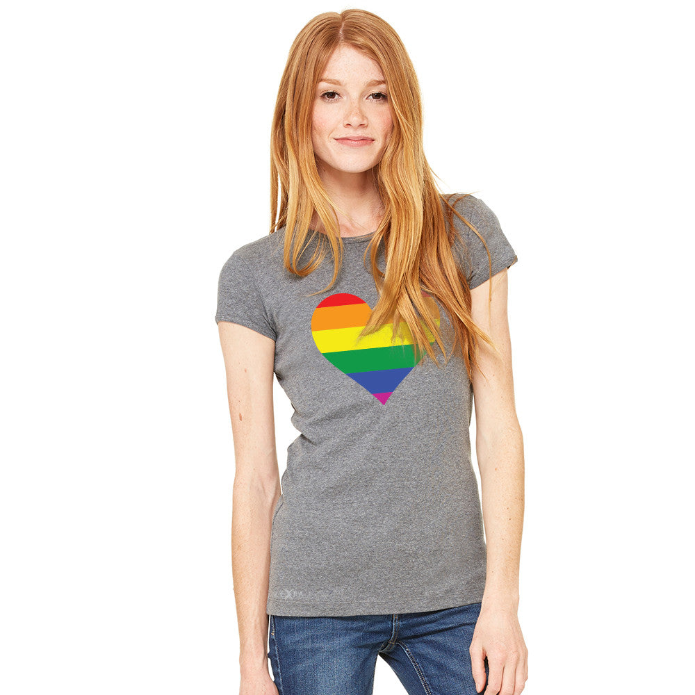 Gay Pride Rainbow Love Heart Strong Women's T-shirt Pride Tee - Zexpa Apparel - 3