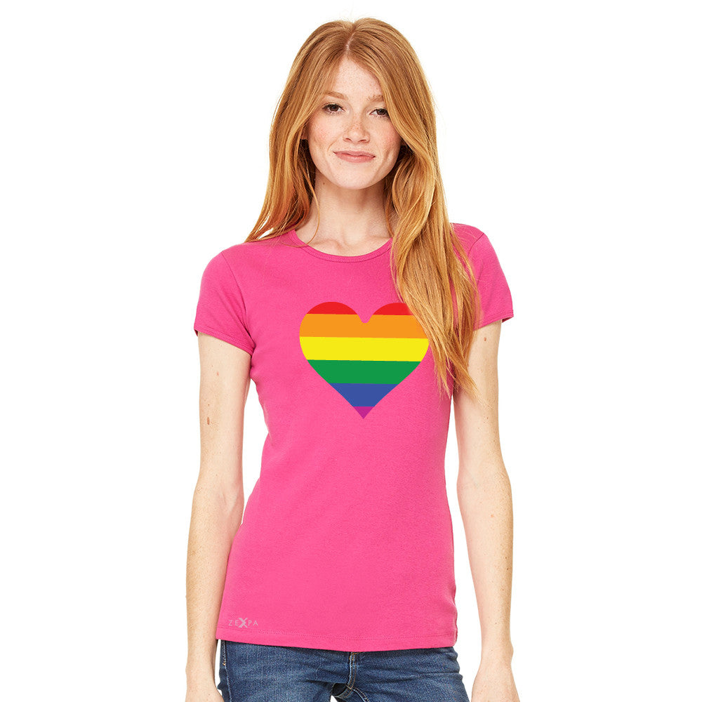 Gay Pride Rainbow Love Heart Strong Women's T-shirt Pride Tee - Zexpa Apparel - 4