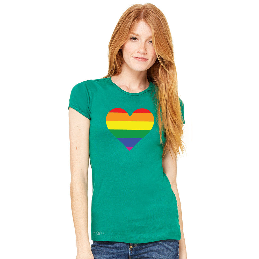 Gay Pride Rainbow Love Heart Strong Women's T-shirt Pride Tee - Zexpa Apparel - 5