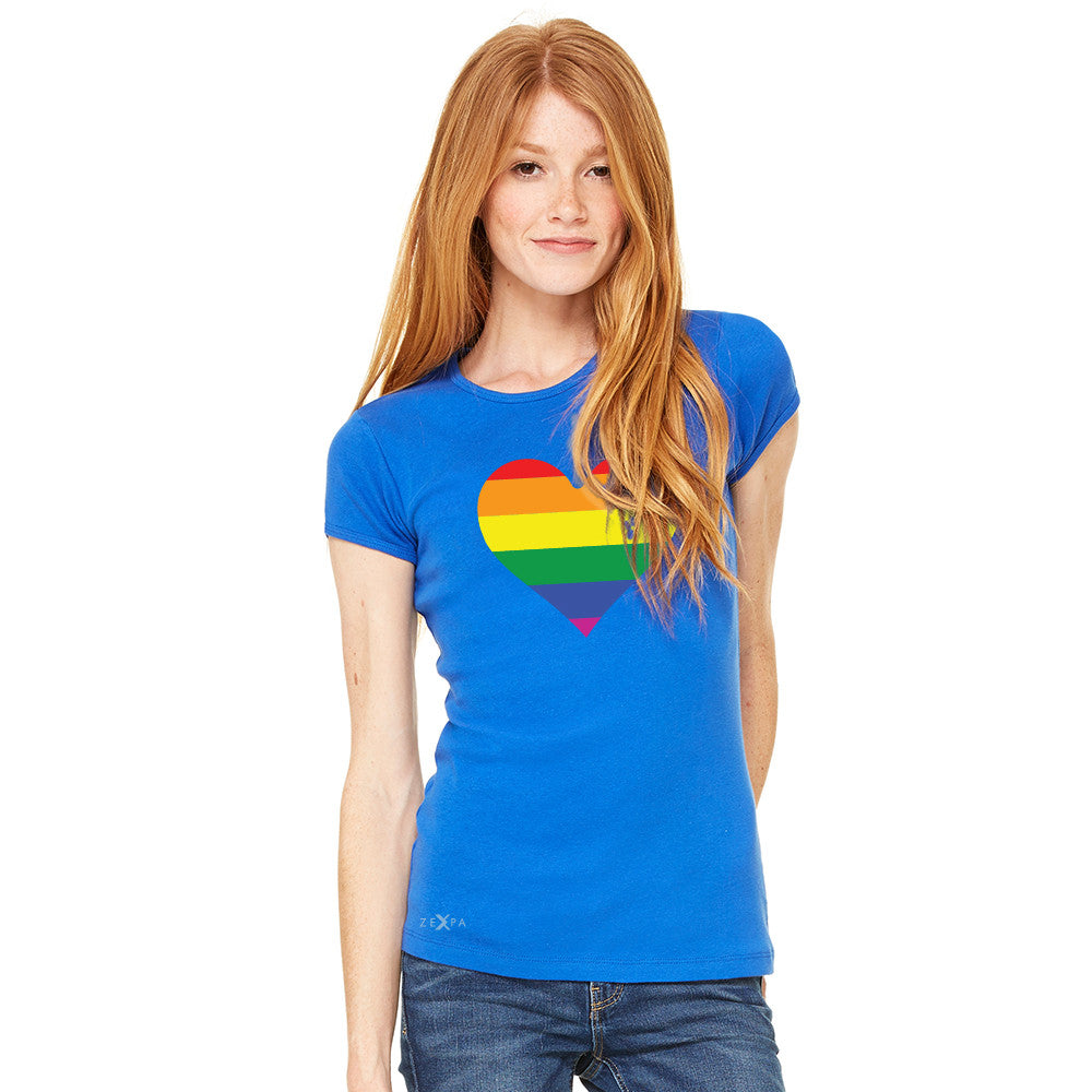 Gay Pride Rainbow Love Heart Strong Women's T-shirt Pride Tee - Zexpa Apparel - 8