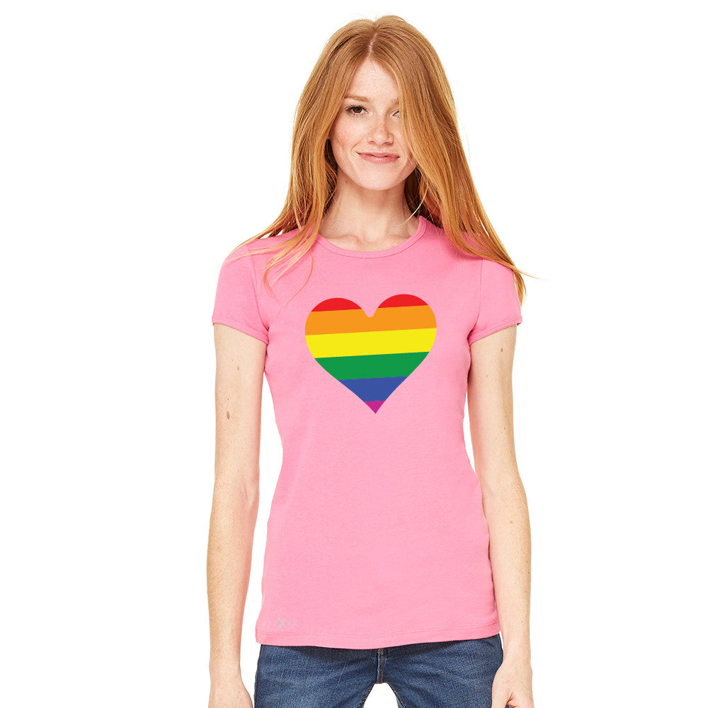 Gay Pride Rainbow Love Heart Strong Women's T-shirt Pride Tee - Zexpa Apparel - 9