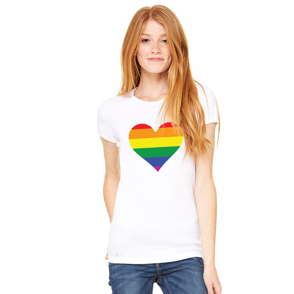 Gay Pride Rainbow Love Heart Strong Women's T-shirt Pride Tee - Zexpa Apparel - 10