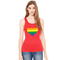 Gay Pride Rainbow Love Heart Strong Women's Tank Top Pride Sleeveless - Zexpa Apparel - 5