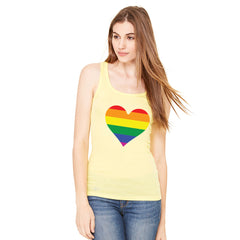 Gay Pride Rainbow Love Heart Strong Women's Tank Top Pride Sleeveless - Zexpa Apparel - 7
