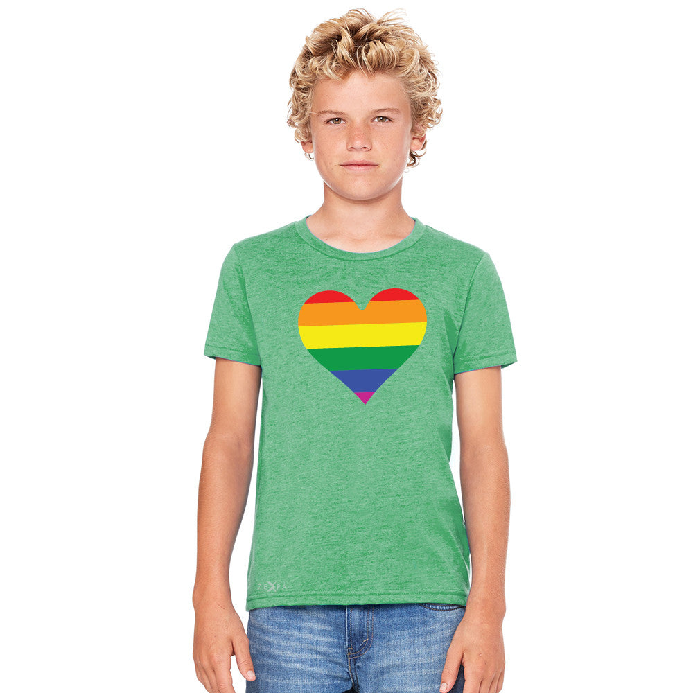 Gay Pride Rainbow Love Heart Strong Youth T-shirt Pride Tee - Zexpa Apparel - 4
