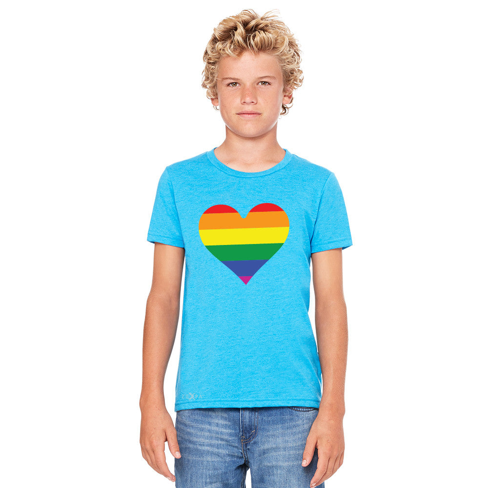 Gay Pride Rainbow Love Heart Strong Youth T-shirt Pride Tee - Zexpa Apparel - 5