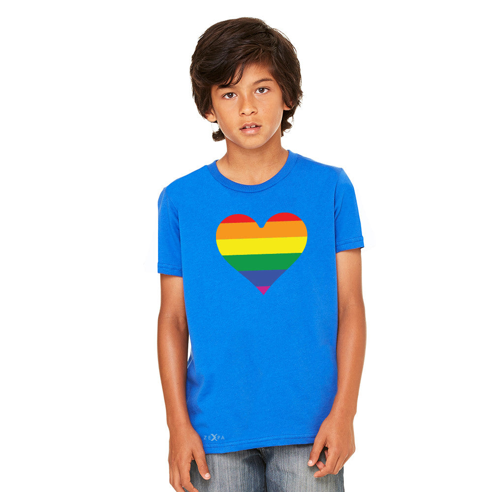 Gay Pride Rainbow Love Heart Strong Youth T-shirt Pride Tee - Zexpa Apparel