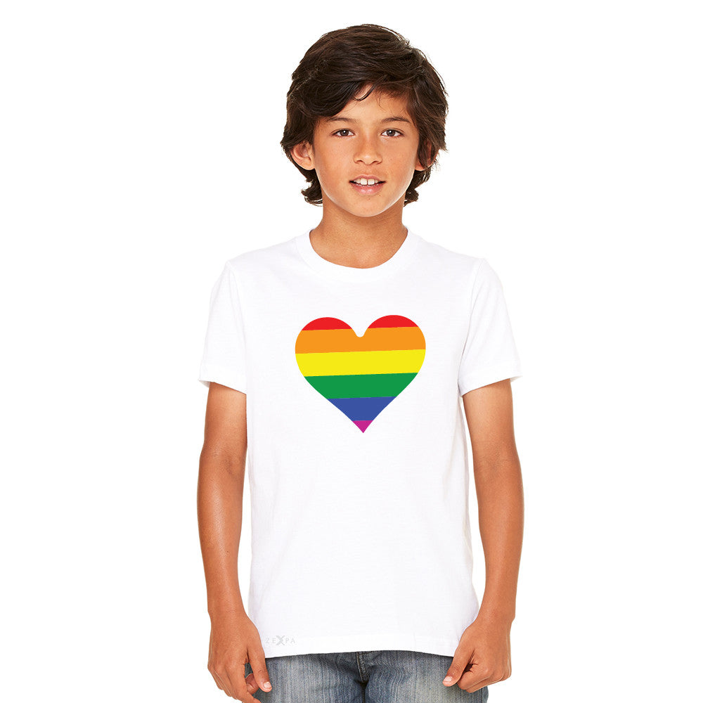 Gay Pride Rainbow Love Heart Strong Youth T-shirt Pride Tee - Zexpa Apparel - 7