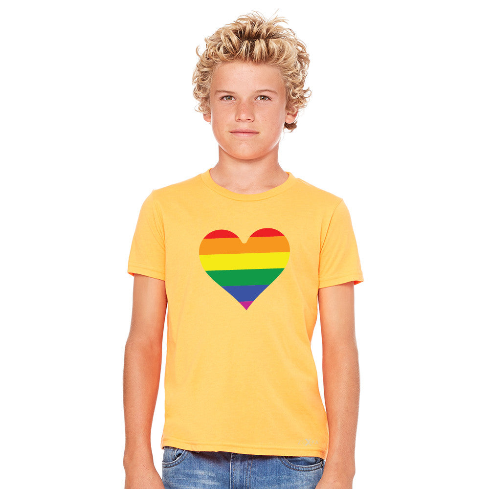 Gay Pride Rainbow Love Heart Strong Youth T-shirt Pride Tee - Zexpa Apparel - 8