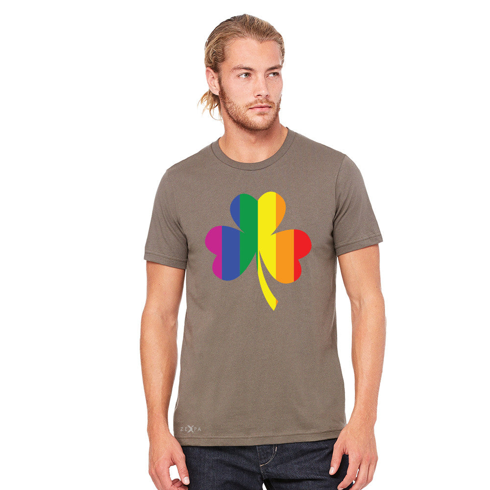 Gay Pride Rainbow Love Lucky Shamrock Men's T-shirt Pride Tee - Zexpa Apparel