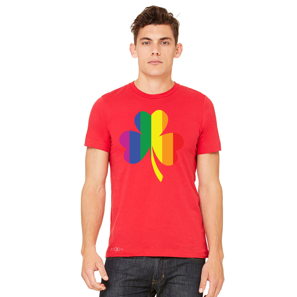 Gay Pride Rainbow Love Lucky Shamrock Men's T-shirt Pride Tee - zexpaapparel - 9
