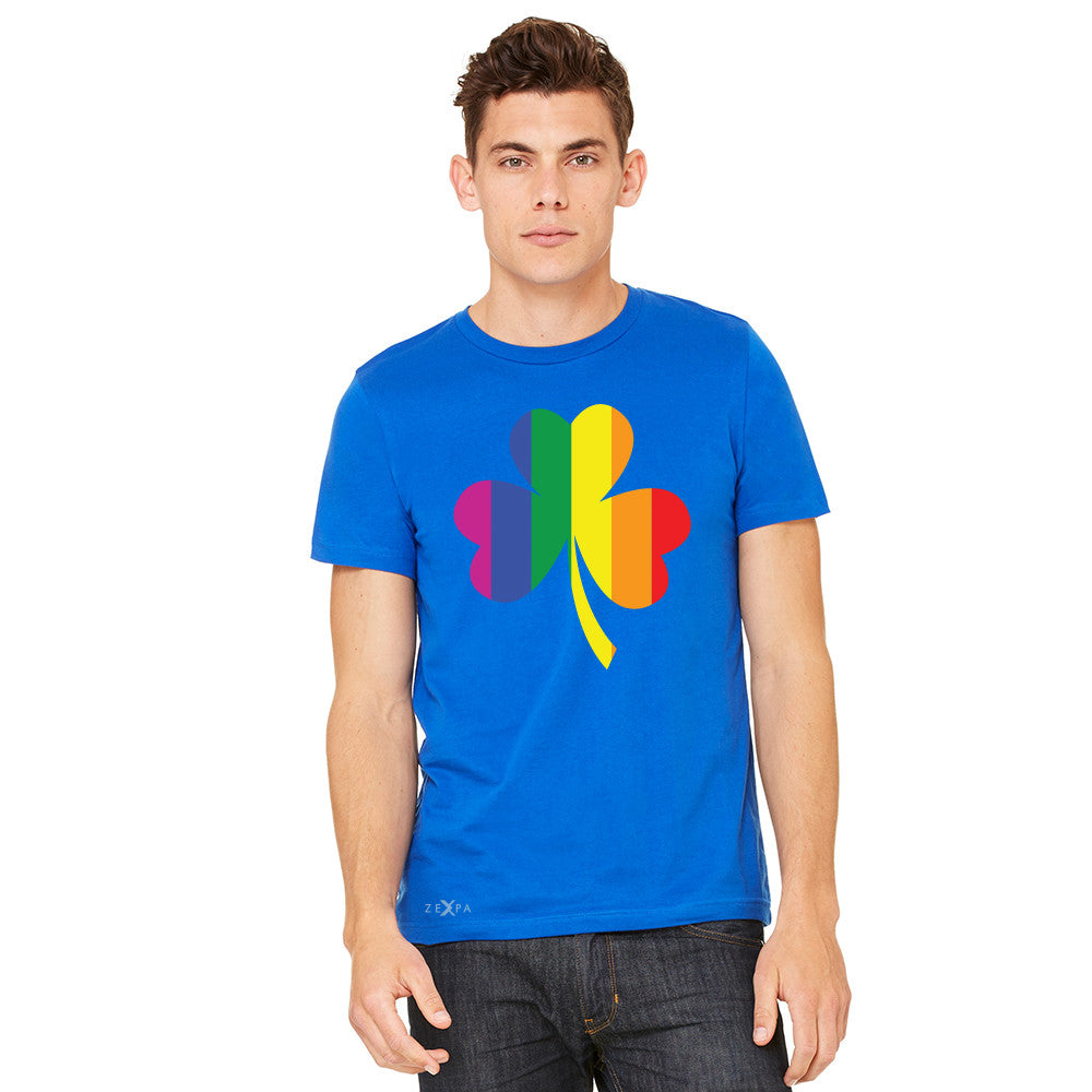 Gay Pride Rainbow Love Lucky Shamrock Men's T-shirt Pride Tee - zexpaapparel - 10