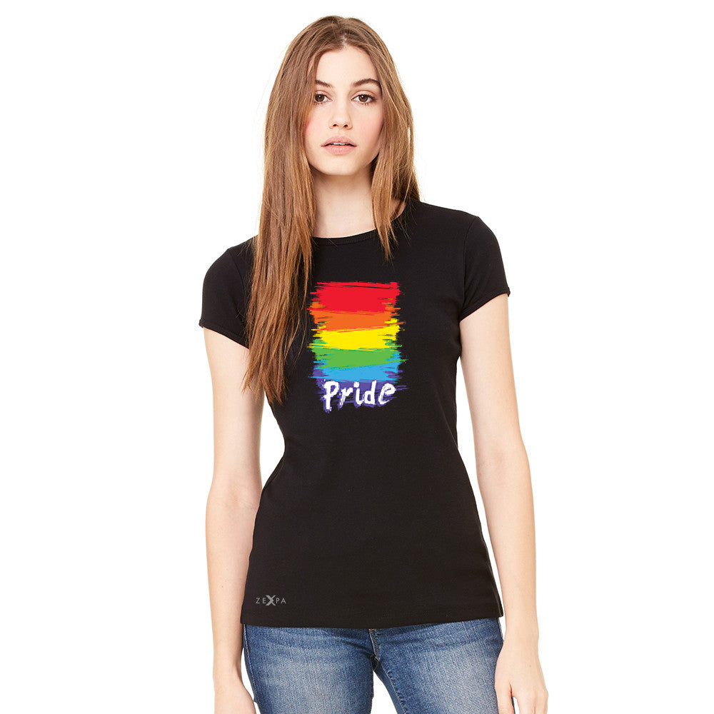 Gay Pride Rainbow Color Paint Cutest Women's T-shirt Pride LGBT Tee - Zexpa Apparel - 3