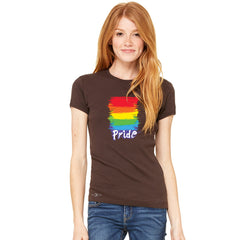 Gay Pride Rainbow Color Paint Cutest Women's T-shirt Pride LGBT Tee - Zexpa Apparel - 2