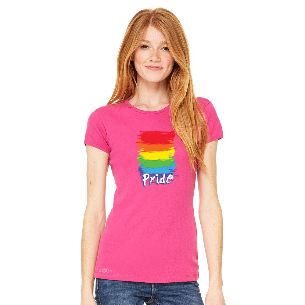 Gay Pride Rainbow Color Paint Cutest Women's T-shirt Pride LGBT Tee - Zexpa Apparel