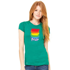 Gay Pride Rainbow Color Paint Cutest Women's T-shirt Pride LGBT Tee - Zexpa Apparel - 6