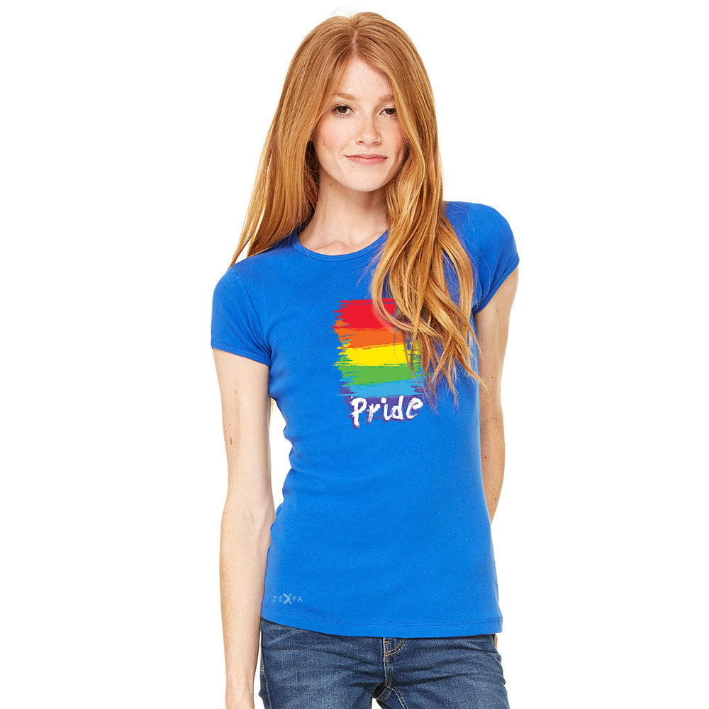 Gay Pride Rainbow Color Paint Cutest Women's T-shirt Pride LGBT Tee - Zexpa Apparel - 8