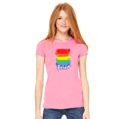 Gay Pride Rainbow Color Paint Cutest Women's T-shirt Pride LGBT Tee - Zexpa Apparel - 9