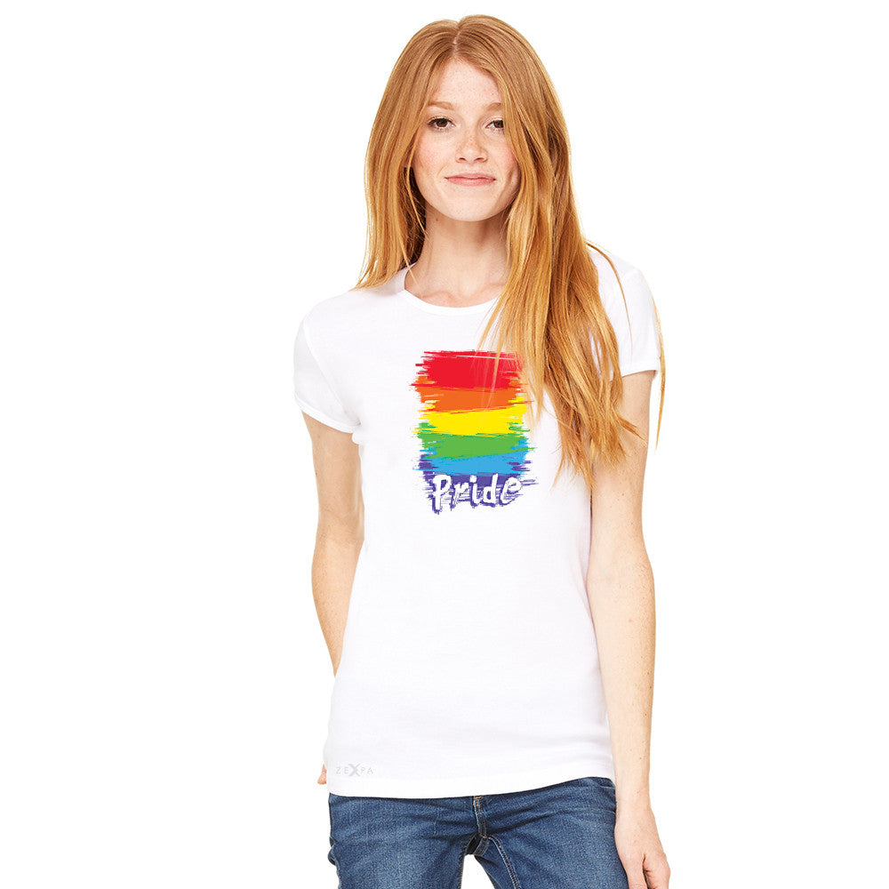 Gay Pride Rainbow Color Paint Cutest Women's T-shirt Pride LGBT Tee - Zexpa Apparel - 10