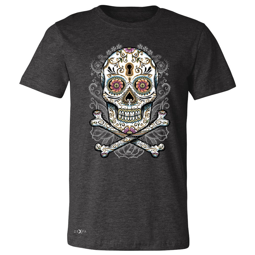 Floral Skull Men's T-shirt Dia de Muertos Sugar Day of The Dead Tee - Zexpa Apparel - 2