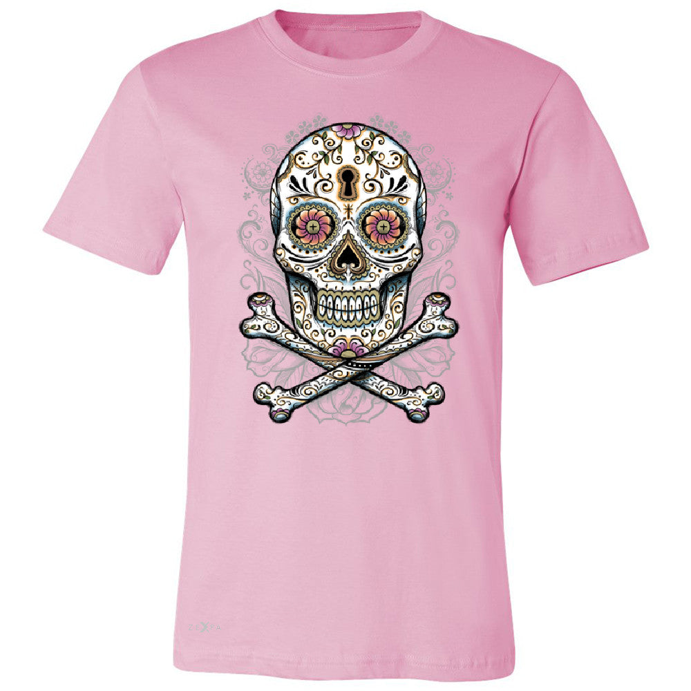 Floral Skull Men's T-shirt Dia de Muertos Sugar Day of The Dead Tee - Zexpa Apparel - 4