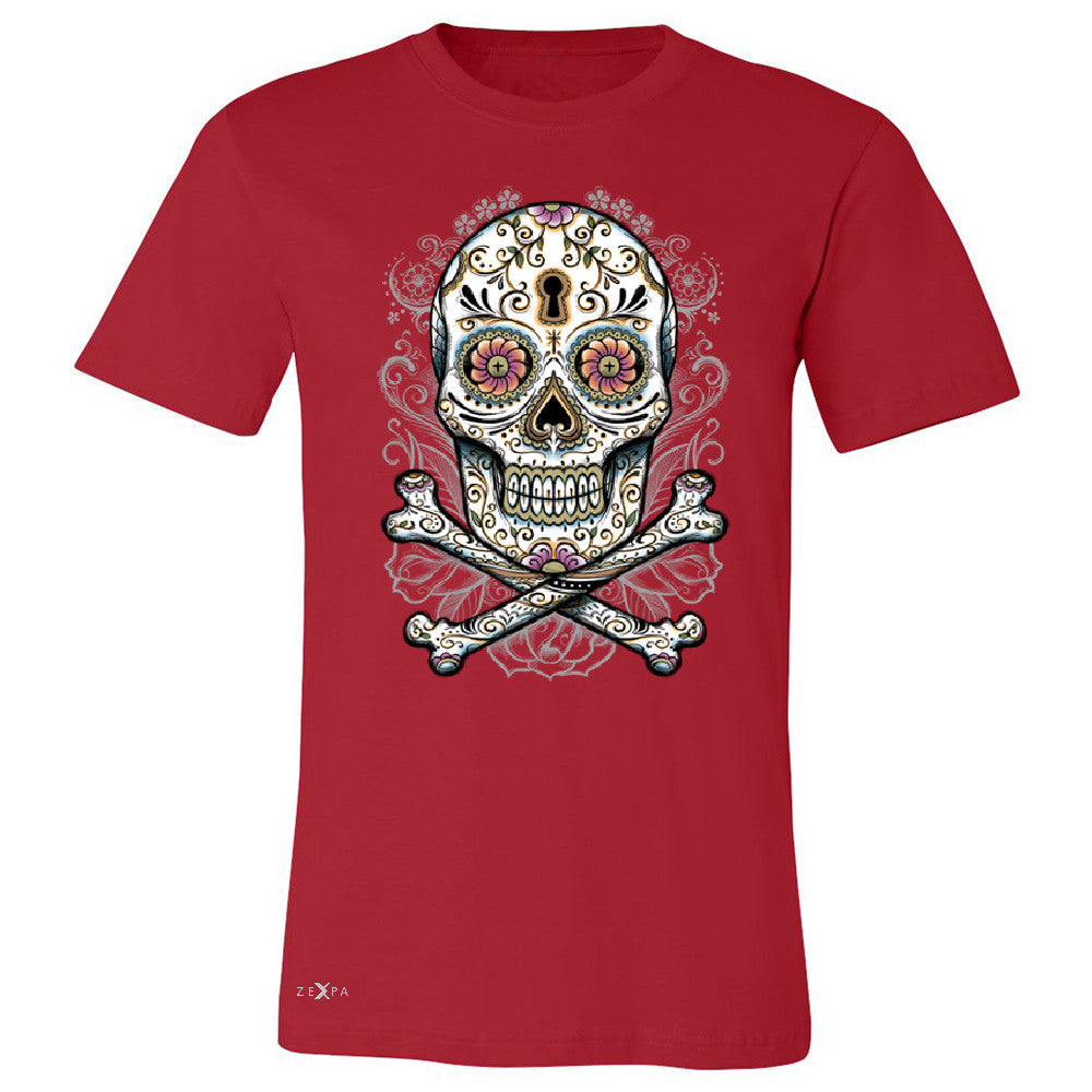 Floral Skull Men's T-shirt Dia de Muertos Sugar Day of The Dead Tee - Zexpa Apparel - 5