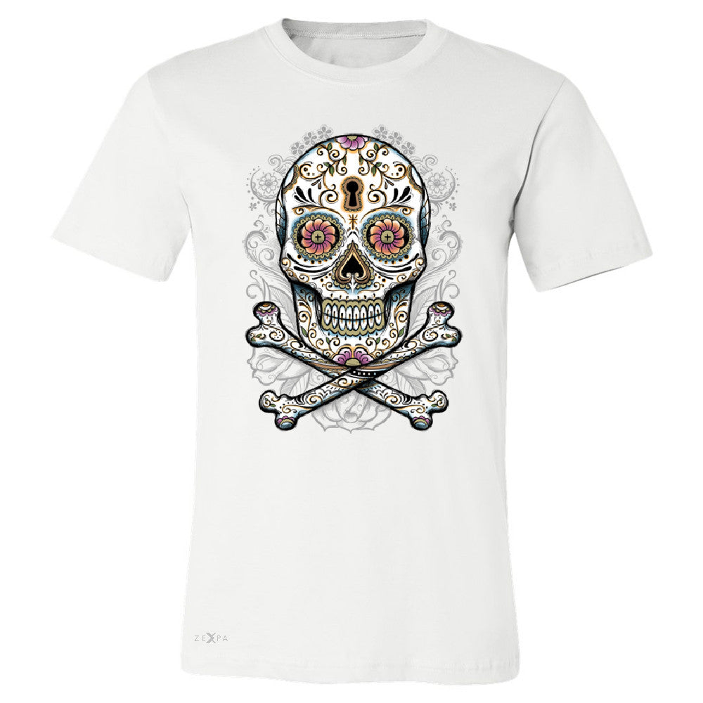 Floral Skull Men's T-shirt Dia de Muertos Sugar Day of The Dead Tee - Zexpa Apparel - 6