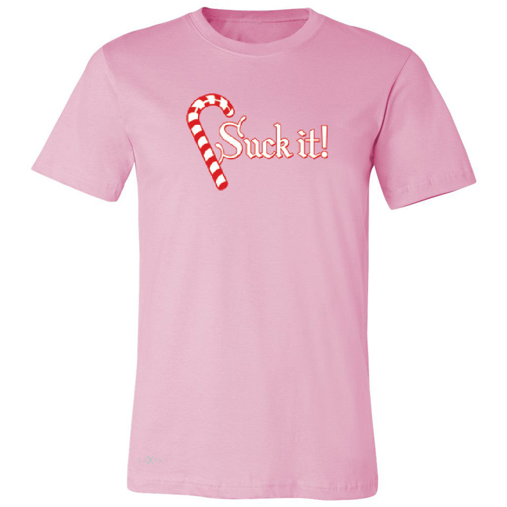 Suck It! Sugar Candy Cane  Men's T-shirt Christmas Xmas Funny Tee - Zexpa Apparel - 4