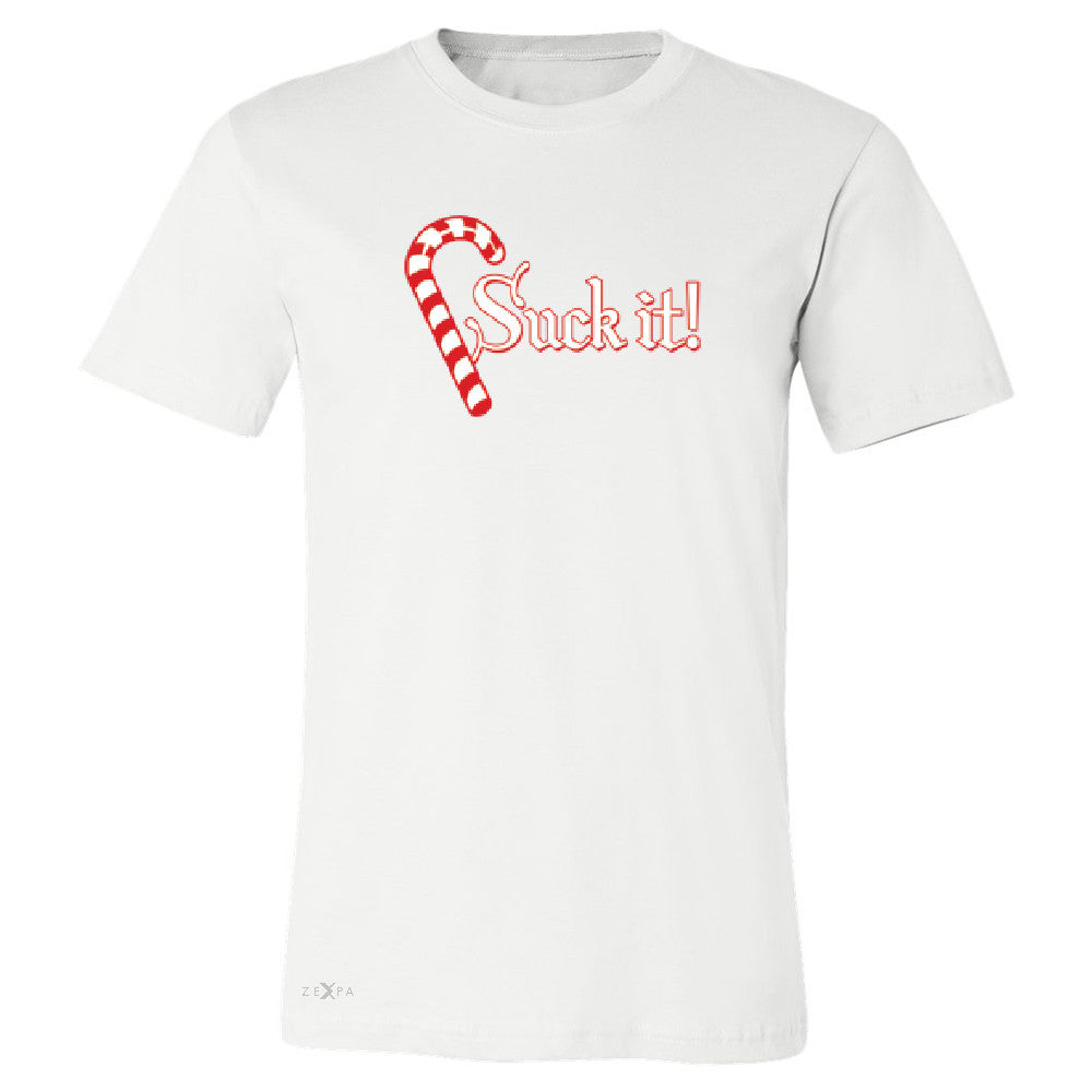 Suck It! Sugar Candy Cane  Men's T-shirt Christmas Xmas Funny Tee - Zexpa Apparel - 6