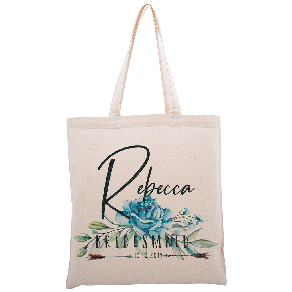 Personalized Tote Bag For Bridesmaids Wedding | Customized Bachelorette Party Bag | Baby Shower and Events Totes |Design #3