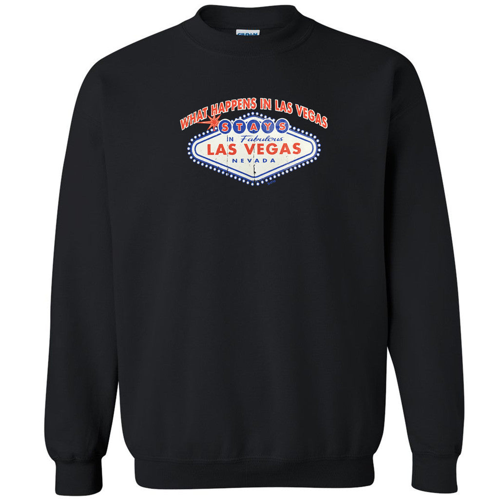 What Happens in Las Vegas Stays in Unisex Crewneck Fabulous LV Sweatshirt - Zexpa Apparel