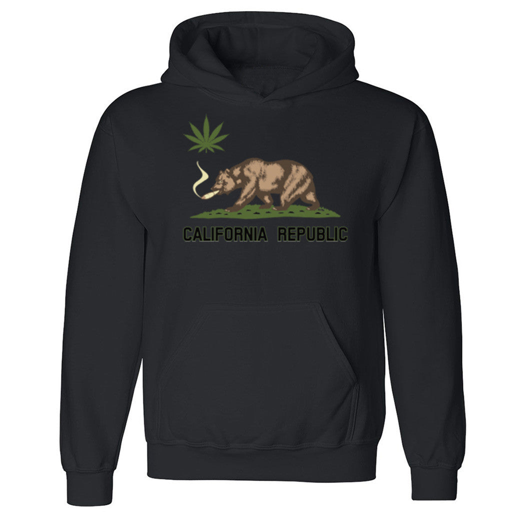 California Bear Weed Joint Unisex Hoodie Dope Weed Smoker Cool Hooded Sweatshirt - Zexpa Apparel