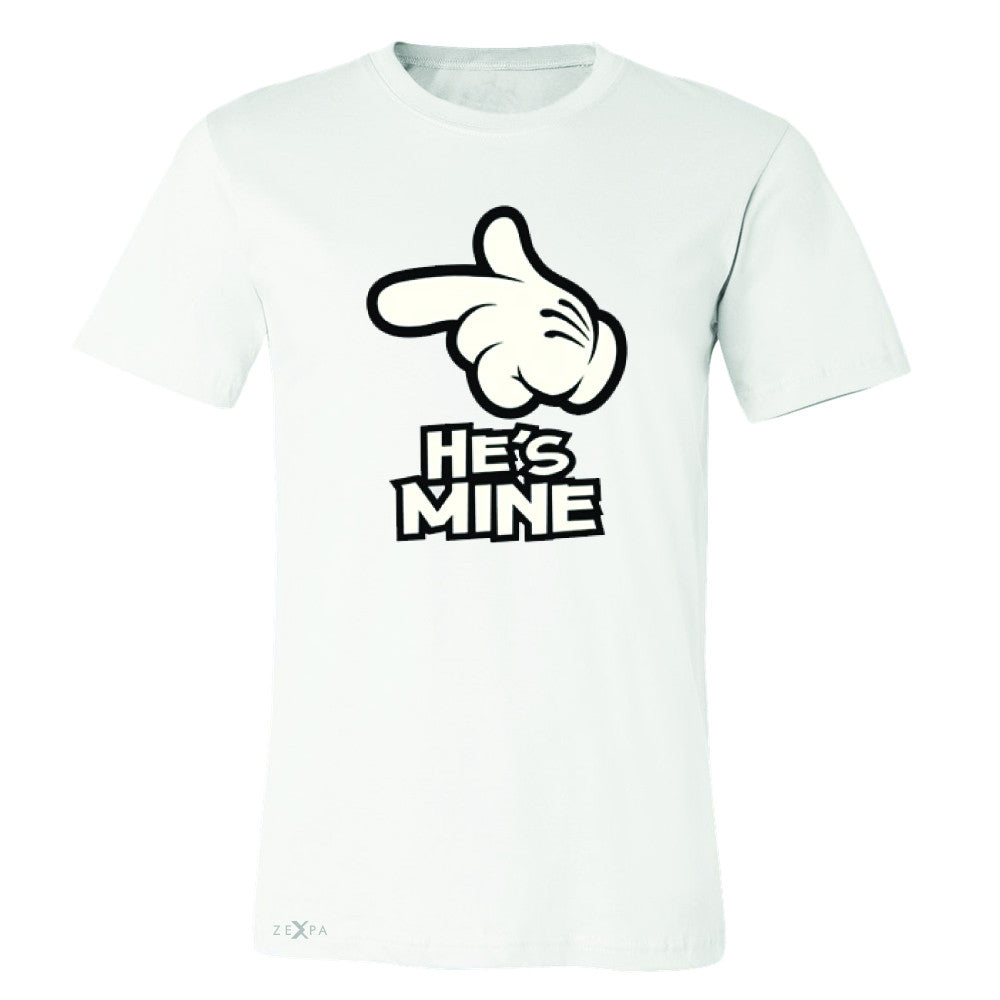 He is Mine Cartoon Hands Valentine's Day Men's T-shirt Couple Tee - Zexpa Apparel - 6