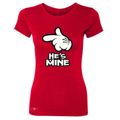 He is Mine Cartoon Hands Valentine's Day Women's T-shirt Couple Tee - Zexpa Apparel - 4
