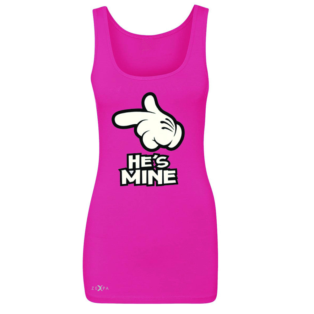 He is Mine Cartoon Hands Valentine's Day Women's Tank Top Couple Sleeveless - Zexpa Apparel - 2