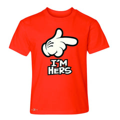 I'm Hers Cartoon Hands Valentine's Day Youth T-shirt Couple Tee - Zexpa Apparel - 2