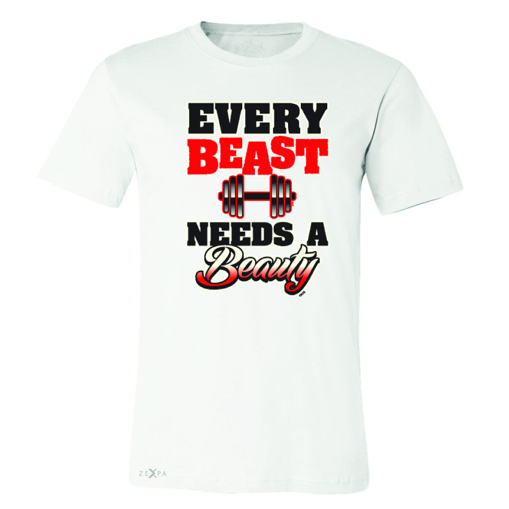 Every Beast Needs A Beauty Valentines Day Men's T-shirt Couple Tee - Zexpa Apparel - 6