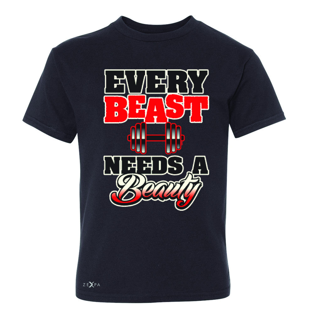 Every Beast Needs A Beauty Valentines Day Youth T-shirt Couple Tee - Zexpa Apparel