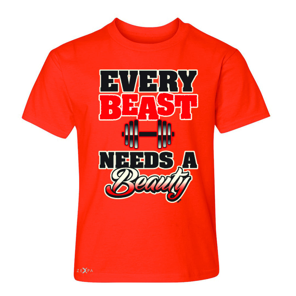 Every Beast Needs A Beauty Valentines Day Youth T-shirt Couple Tee - Zexpa Apparel - 2