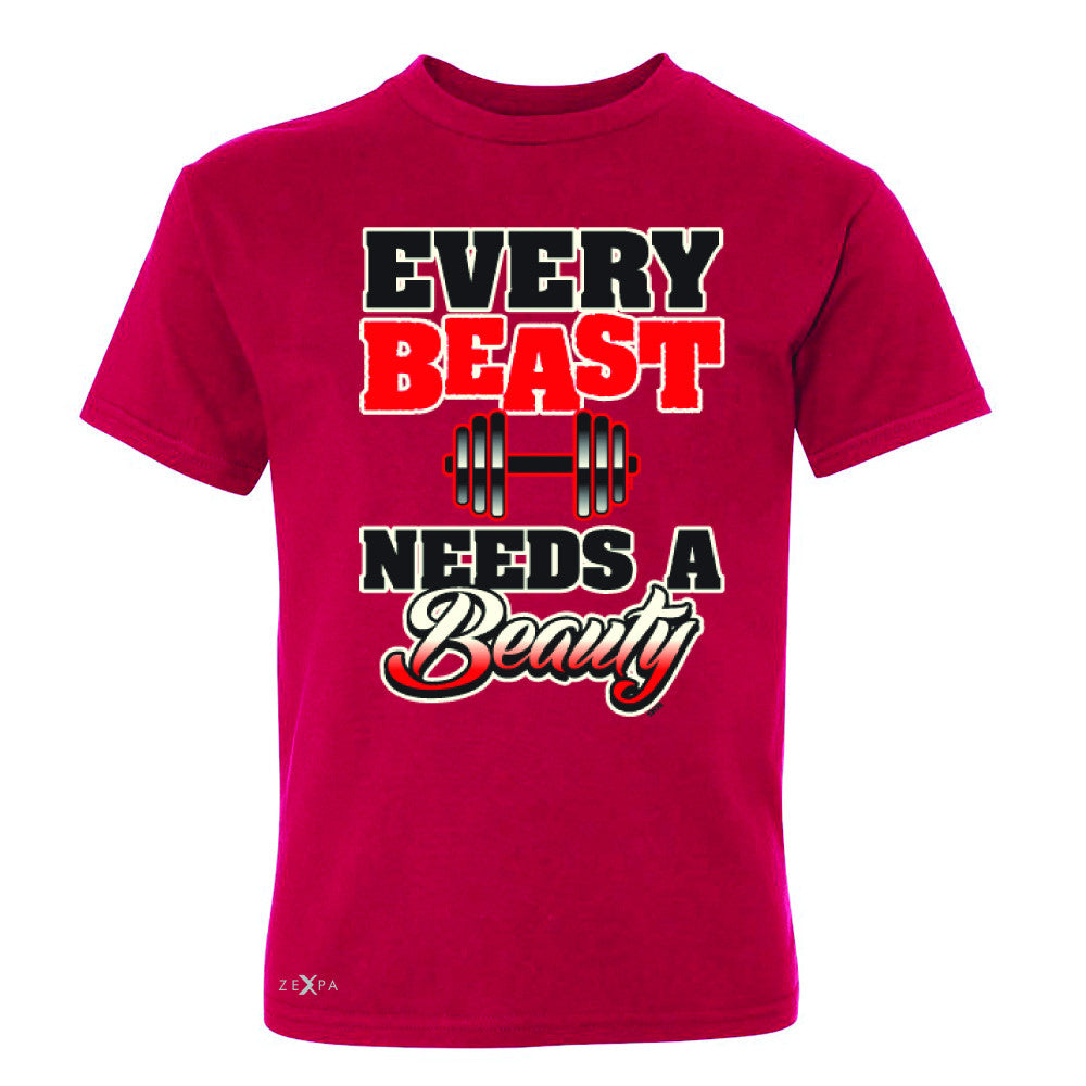 Every Beast Needs A Beauty Valentines Day Youth T-shirt Couple Tee - Zexpa Apparel - 4