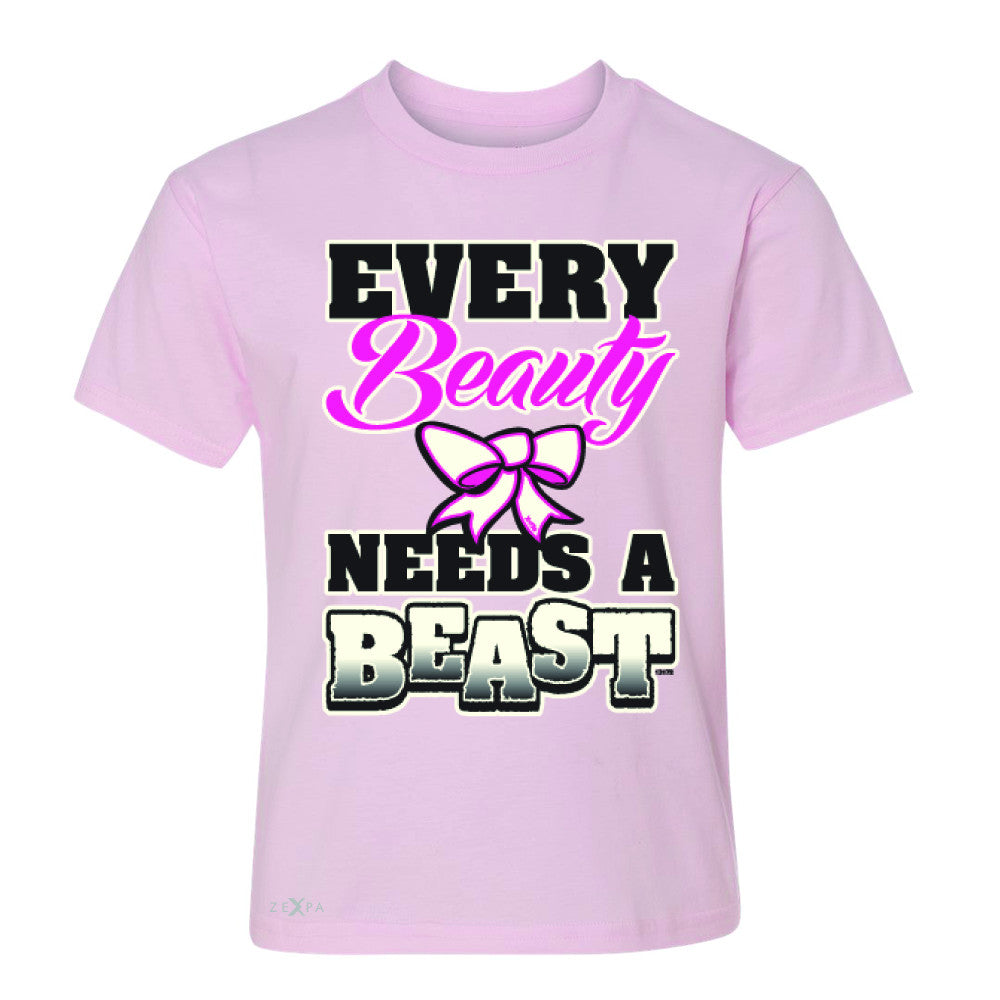 Every Beauty Needs A Beast Valentines Day Youth T-shirt Couple Tee - Zexpa Apparel - 3