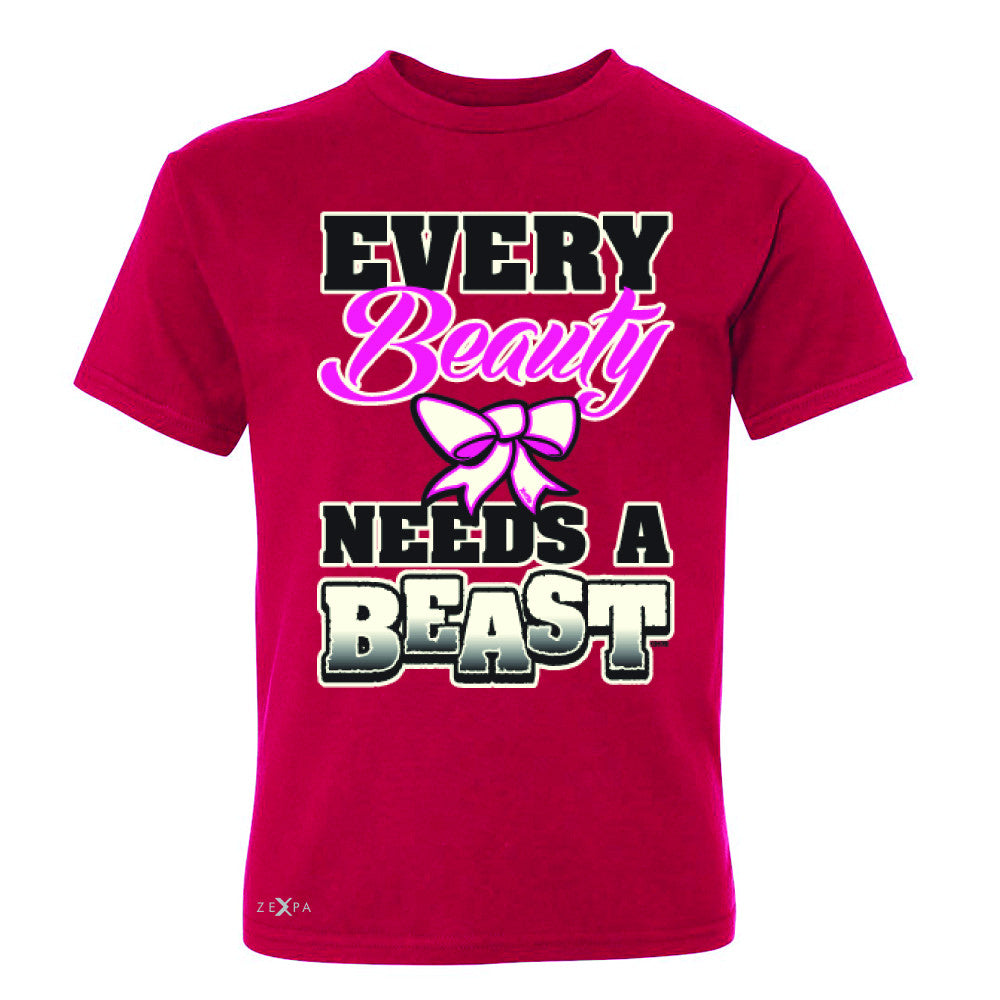 Every Beauty Needs A Beast Valentines Day Youth T-shirt Couple Tee - Zexpa Apparel - 4