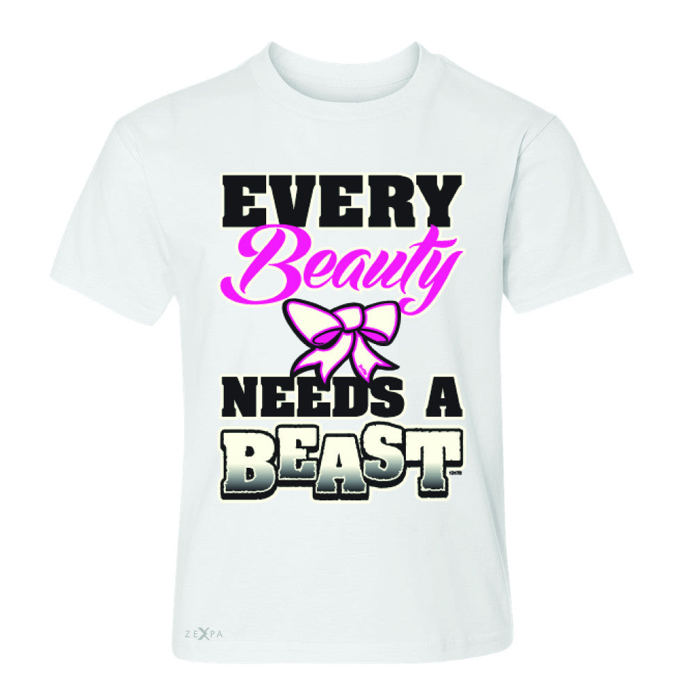 Every Beauty Needs A Beast Valentines Day Youth T-shirt Couple Tee - Zexpa Apparel - 5