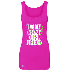 I Love My Crazy Girlfriend Valentines Day Women's Tank Top Couple Sleeveless - Zexpa Apparel - 2