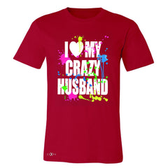 I Love My Crazy Husband Valentines Day Men's T-shirt Couple Tee - Zexpa Apparel - 5