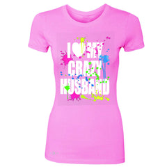 I Love My Crazy Husband Valentines Day Women's T-shirt Couple Tee - Zexpa Apparel - 3